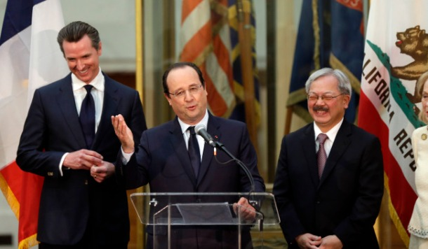 Francois Hollande, Gavin Newsom, Ed Lee